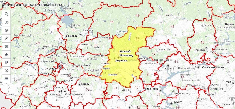 Публичная кадастровая карта - Нижегородская область