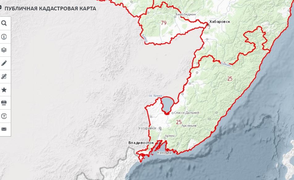 Публичная кадастровая карта - Приморской край