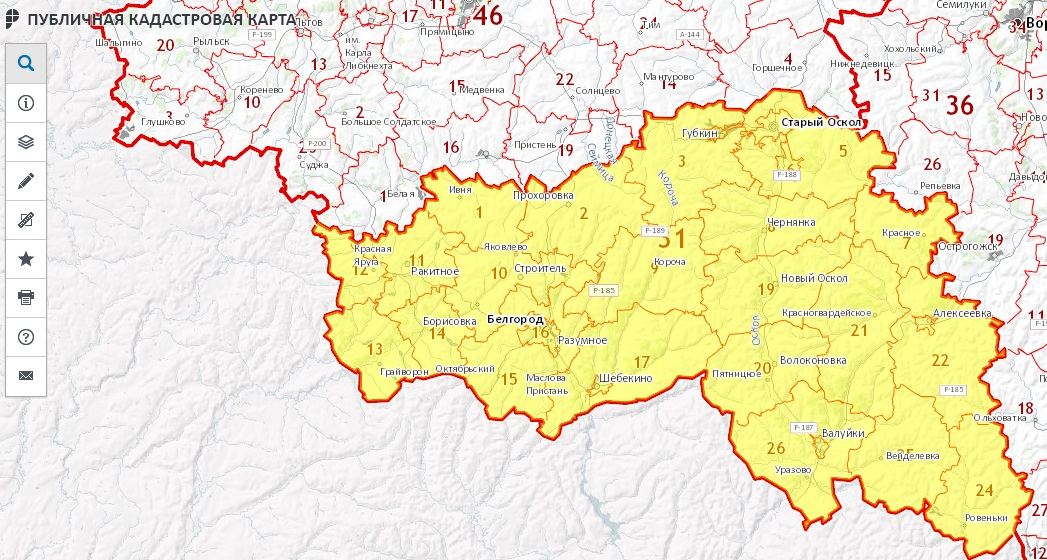 Публичная кадастровая карта - Белгородская область