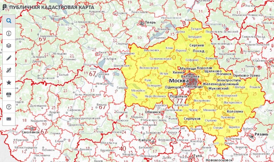 Публичная кадастровая карта - Москва