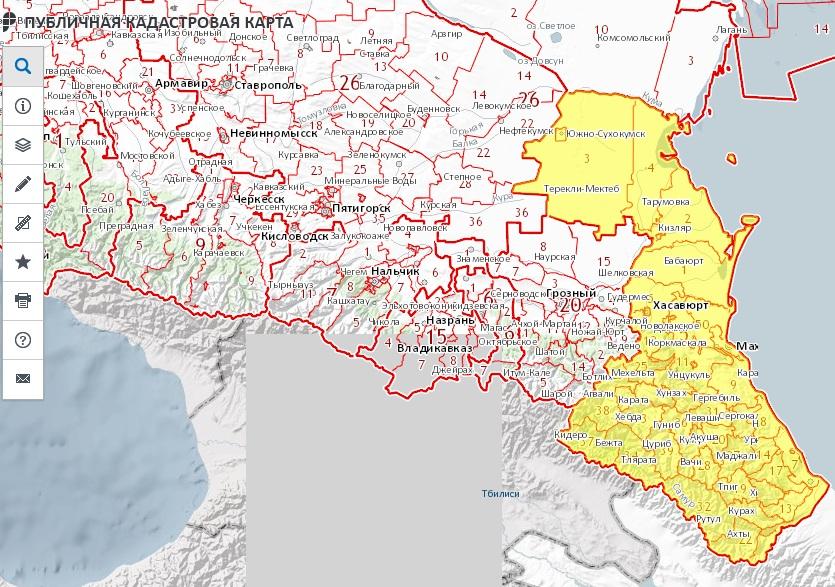 Публичная кадастровая карта - Республика Дагестан